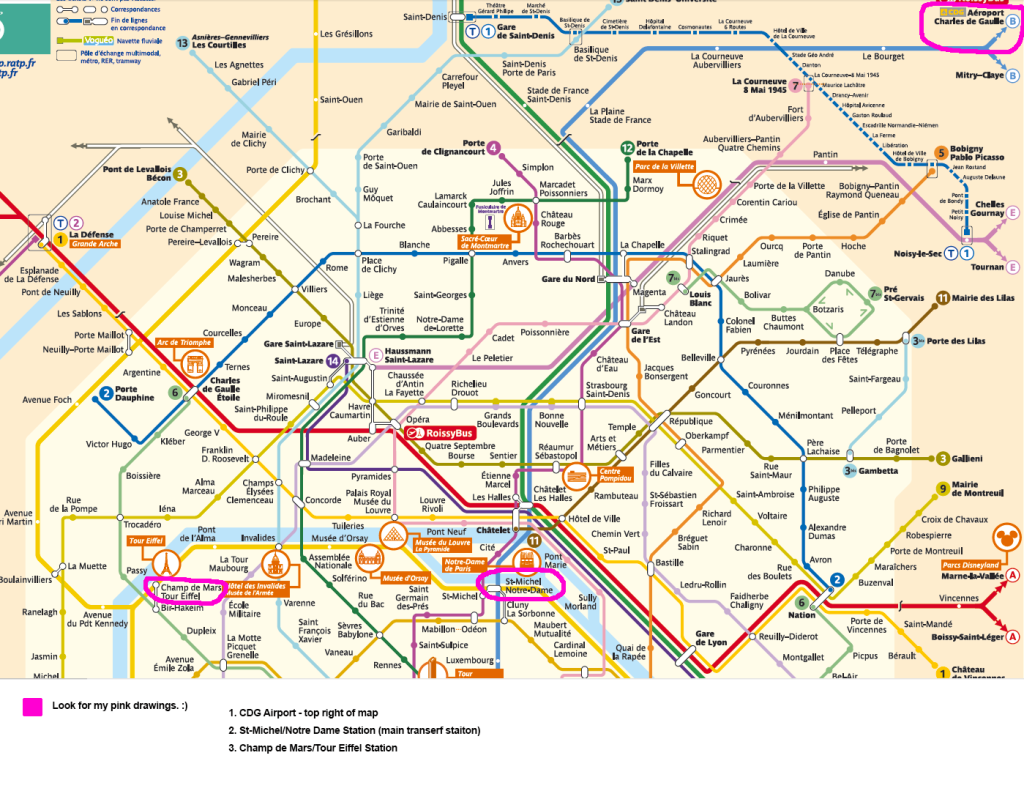 RER CITY MAP