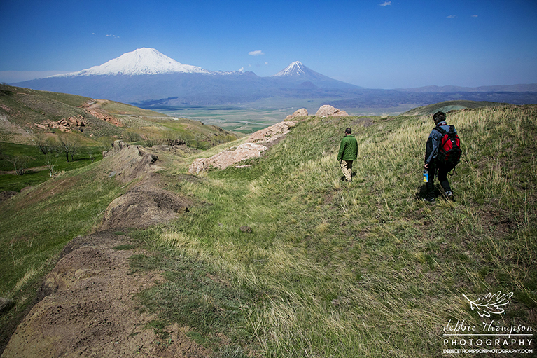Walking on Noah's Ark with a view of Mt. Ararat across the valley