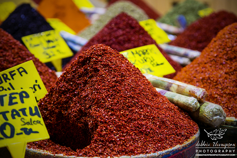 Freshly ground spices in the Grand Bazaar, Istanbul