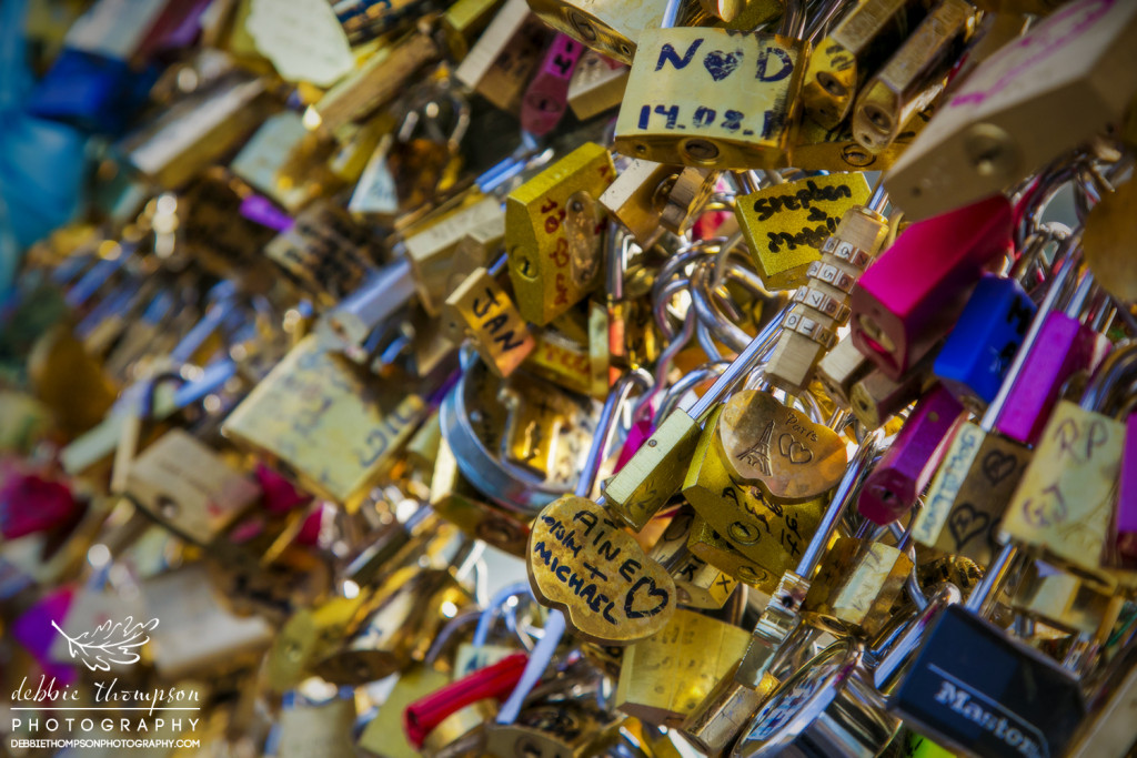 There are two bridges in Paris with the locks. You must be very careful which bridge you put your lock on because Pont des Arts is for your committed love, while Pont de l'Archevêché is for your lover.