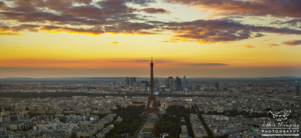 Panoramic view from the Montparnasse Tower
