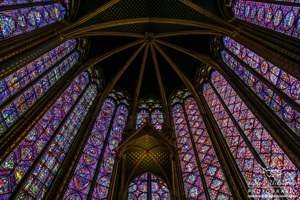 Sainte Chapelle, a masterpiece of Flamboyant Gothic architecture built by Saint Louis in the heart of the Palais de la Cité on the Ile de la Cité in Paris.